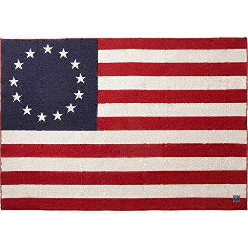 Faribault Woolen Mill Betsy Ross Flag Throw, Multi