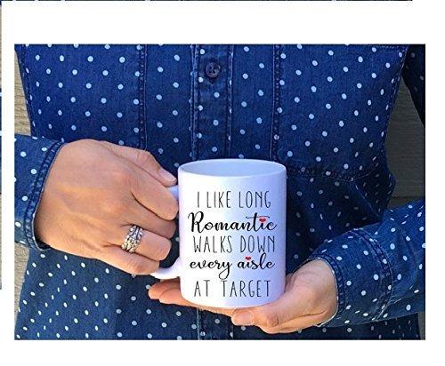 I like long romantic walks down every aisle at Target / i like long romantic / aisle at target / target mug / wife mug / funny mug / mom - Jobs Triathlon