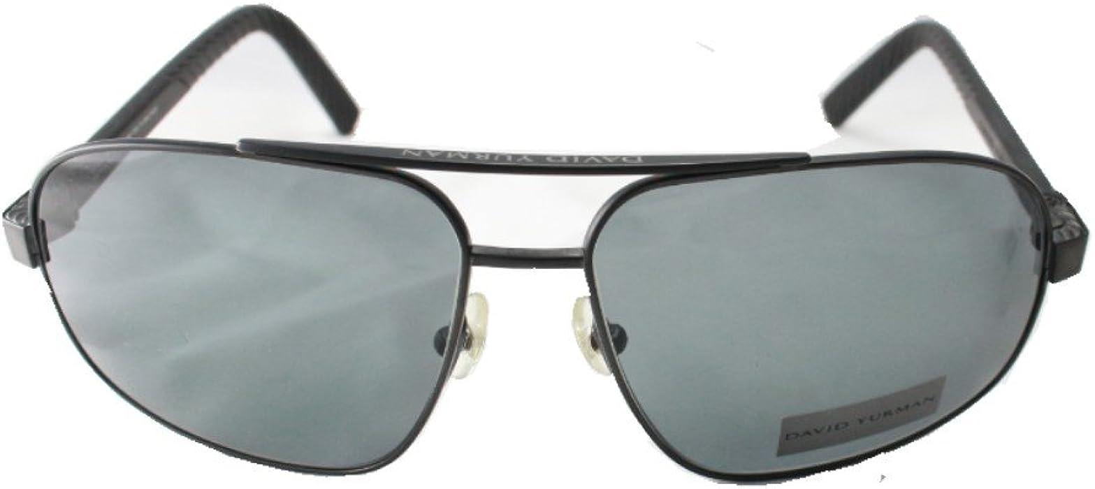 be6d670674 Amazon.com  David Yurman DY 614 01 Black Onyx PVD Sunglasses  Clothing
