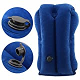 COMFY TRAVEL PILLOW Inflatable for Airplanes, Neck Pillow, Travel Pillow for Fully Support, Soft PVC Flocking Flight Pillow Easy Inflating Travel Pillows