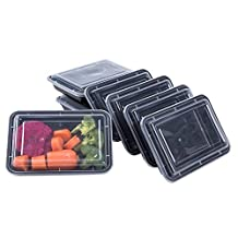 |10 pack| 1 Compartment Food Storage Containers for Meal Prep Bento Lunch Box by KAISHAN