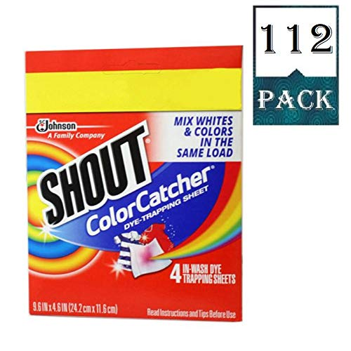 Shout Color Catcher Dye Trapping Sheets 112 Count Case of 28 4 Packs