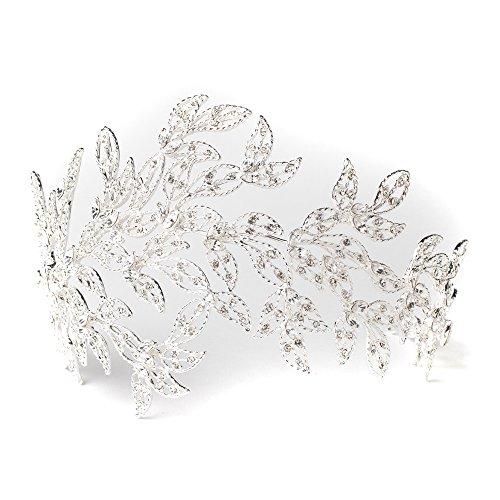 Silver Crystal Princess Bridal Tiara,Bridal Crystal Tiaras Headpieces,Wedding Tiaras Headpieces by Rodeo Couture Bridal
