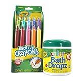 Color My Bath Crayola Bathtub Crayons with Crayola Color Bath Drops 60 tablets