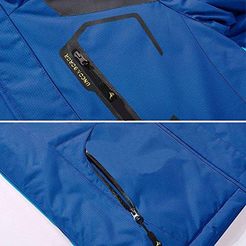 Giubbotto Uomo Antivento Impermeabili Invernali Yiruiya Con Blu Giacca Cappuccio ZXqwa6n6gx