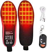 Heated Insoles, Rechargeable Heated Insole with Remote Control Foot Warmer, Winter Foot Warmers for Men Women