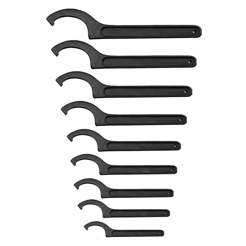 Homyl 9x 22-95 Harden ER Wrench Hook Spanner Collet Chuck for Lathe Clamping Nut Key Screw 22-26 to 85-95 PACK, Opening 22mm-78mm (0.87''-3.07'') Set