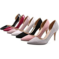 TONMOON Women's Closed Pointed Toe Pumps Stiletto High Heels Office Lady Wedding Party Dress Heeded Shoes