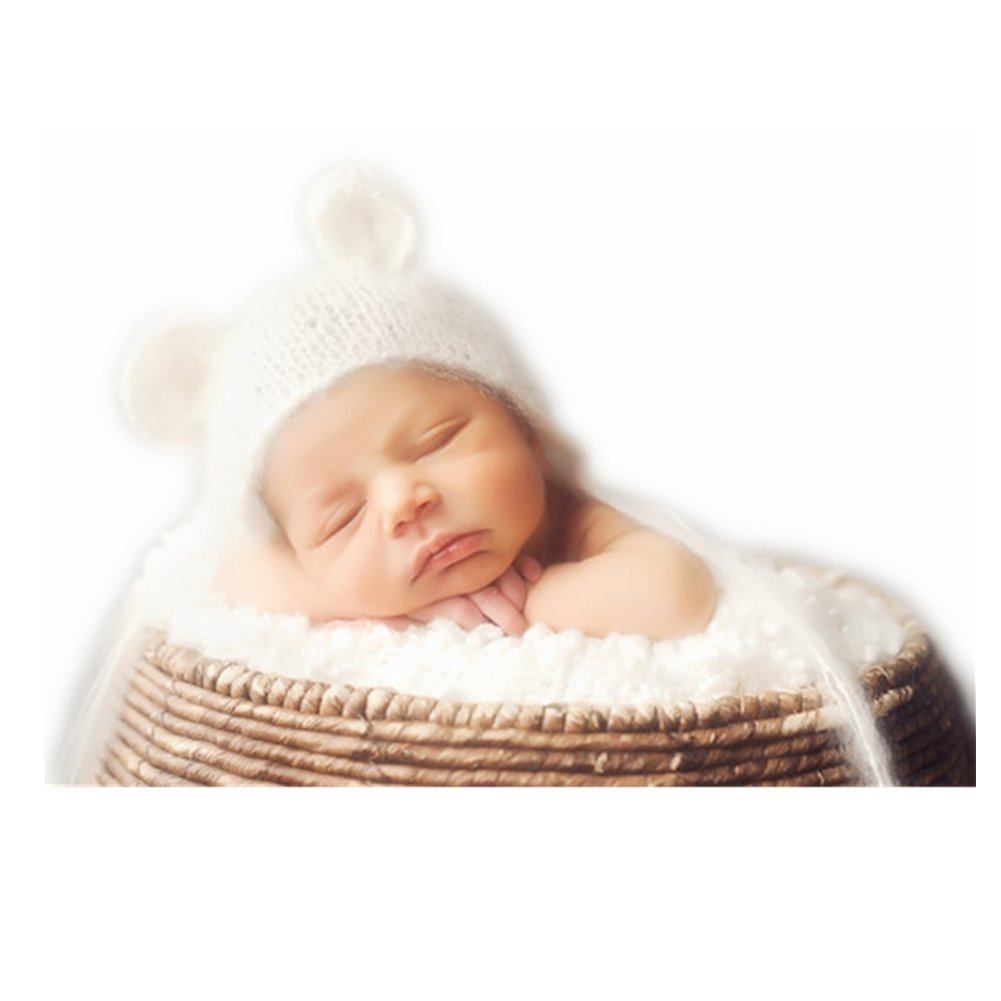 Bebé recién nacido fotografía apoya Niña Niño ganchillo Trajes sombrero traje tocado Binlunnu