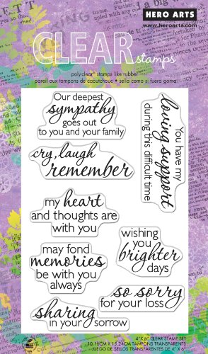 Hero Arts Remember Polyclear Stamp Set - Acrylic Sentiments Clear Stamps