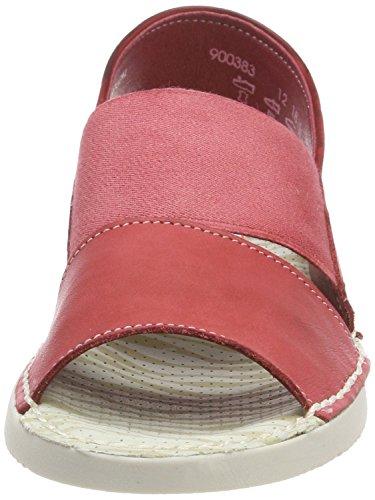 Softinos Damen Tai383sof Lavato Slingback Sandalen Rot (rosso)