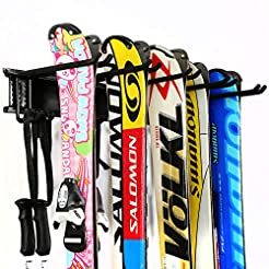 Ultrawall Ski Wall Rack, 5 Pairs of Snow...