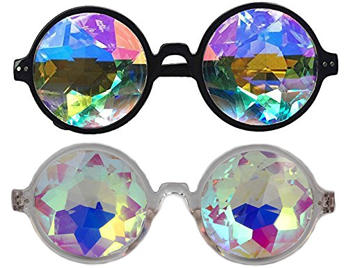 DODOING 2017 New Fashion Round Kaleidoscope Sunglasses Men Women Catwalk Show Rave Festival EMD Party Designer Eyewear Colorful Lens Kaleidoscope Glasses Cosplay - B-sunglasses Cn