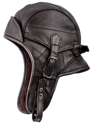 Sterkowski Genuine Leather 8 Aviator Helmet Trapper Cap Us