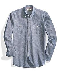 Amazon Brand - Goodthreads Men's Standard-Fit Long-Sleeve Chambray Shirt