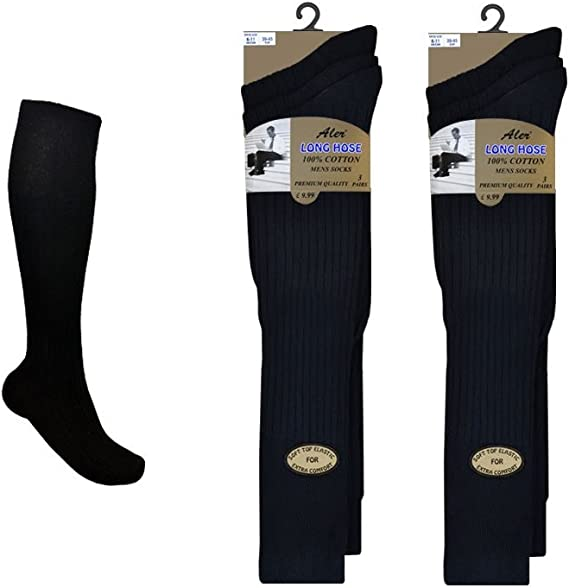 15 PAIRS MENS ADULTS BLACK COTTON SOCKS WITH COLOURED HEELS /&TOES UK 6-11 CLTLKQ