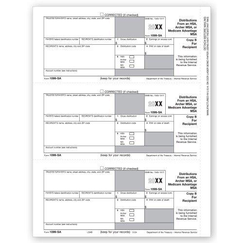 Amazoncom Laser 1099 Sa Recipient Copy B Office Products