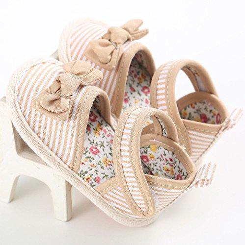Para 3-18 Mes Auxma Niñas Cute Bowknot Zapatos prewalker Soft Zapatos Sandalias marrón