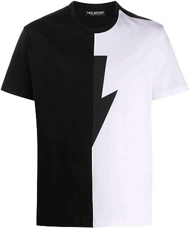 Neil Barrett Camiseta con Rayos: Amazon.es: Ropa