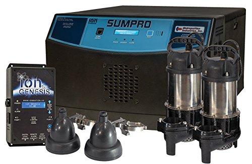 ION SUMPRO Platinum 100 Battery Backup Sump Pump System