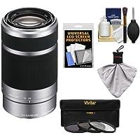 Sony Alpha NEX E-Mount 55-210mm f/4.5-6.3 OSS Zoom Lens with 3 Filters + Kit for A7, A7R, A7S Mark II, A5100, A6000, A6300 Cameras