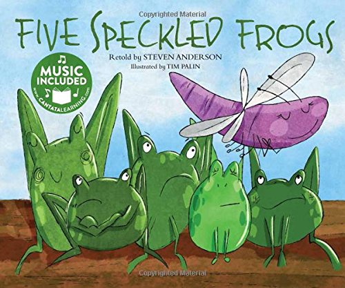 Green Speckled Frogs - Five Speckled Frogs (Sing-along Math Songs)