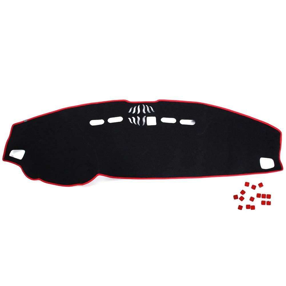 Nero + Rosso KIMISS Car Dashboard Cover Poliestere Dashboard Mat Protezione solare Dashboard Cover per sport 06-09 2013