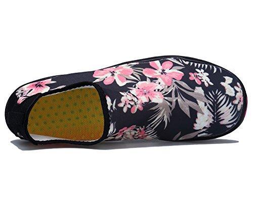Trocknend Blume Schnell Leicht Fahren Barfuß Wasserschuhe Schuhe für Tauchen Damen Schwimmschuhe Strandschuhe Aqua Bdawin Surfen Yoga naZgAWBx