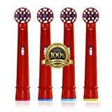 Dr. Kao® Toothbrush heads children Toothbrush Heads Kids Made with Dupont Nylon Electric Toothbrush Heads for Children standard for oral b electric toothbrush heads kids 4 pack EB-10A (4) (4)