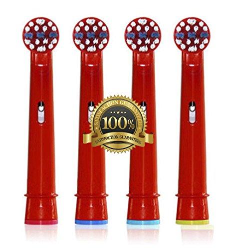 Drkao Clean Aufsteckbürsten für Oral B Kinder Elektrische Zahnbürstenköpfe für Braun Oral B Elektrische Zahnbürste Kinder Aufsteckbürsten Köpfe für Oral-B kids Aus Hochwertigem Dupont-Nylon, 16 Stück