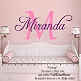 Wall Decals Personalized Name Decal Vinyl Sticker Star Girl Baby Children Nursery Bedroom Room Dorm Decor Home Playroom Art Murals MN498