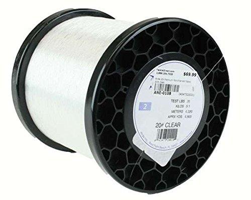 Premium Mono Line 2Lb Spool 20Lb 4800Yds Clear (2 Mono Spool Lb)