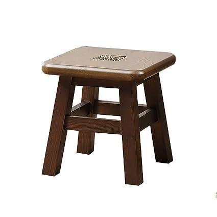 Surprising Amazon Com Aijl Footstool Solid Wood Shoe Bench Inzonedesignstudio Interior Chair Design Inzonedesignstudiocom