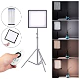 Andoer Travor FL-3030A LED Light 48W CRI90+ 256 Beads Max.4500LM 3200K-5500K Flexible Cloth Roll-up Handheld LED Video Photography Film Fill-in Light Panel with Remote Control