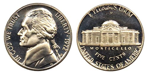 1972 S Proof Clad Jefferson Nickel PF1