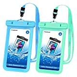Waterproof Cell Phone Bag [2 Pack], MoKo Waterproof Case Pouch Dry Bag
