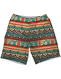 Desert Tribal Athletic Shorts, Mens Board Shorts For Basketball, Swim, Gym, Workout