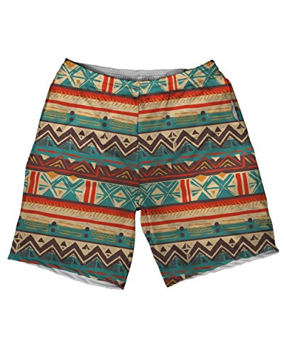 INTO THE AM Desert Tribal Men's Premium All Over Print Athletic Shorts (Microfiber Print Shorts)
