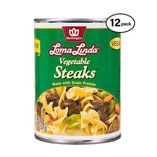 (Loma Linda - Plant-Based - Vegetable Steaks (20 oz.) (Pack of 12) - Kosher)