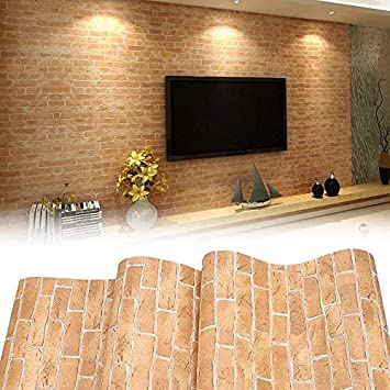 3D Modern Wallpaper, Modern Faux Brick Stone Textured Wallpaper,3D Brick  Blocks Vintage Wallpaper