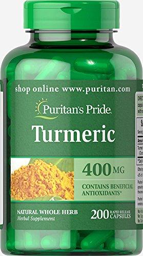 Puritan's Pride Turmeric 400 mg-200 Capsules