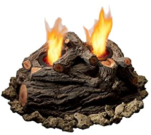 """Real Flame 310 Modern 15"""" 2 Can Outdoor Log Set in Oak"""