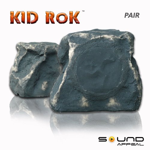 (KiD RoK Outdoor Rock Speaker Grey Slate by Sound Appeal)