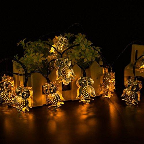 Owl Solar String Lights