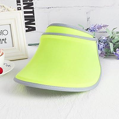L'été des femmes Ombre Soleil Hat Cap marée extérieur résistant aux UV, chapeaux de mode Sport et loisirs, ajustable, vert Fluorescent -