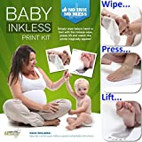 Save The Moment Inkless Wipe Hand and Foot Print Kit with 2 Standard Coated Papers (Black)