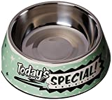 Punchline Pet 'Today's Special' Retro Melamine Dog Bowl with Stainless Steel Dog Bowl Insert, 24 oz Review