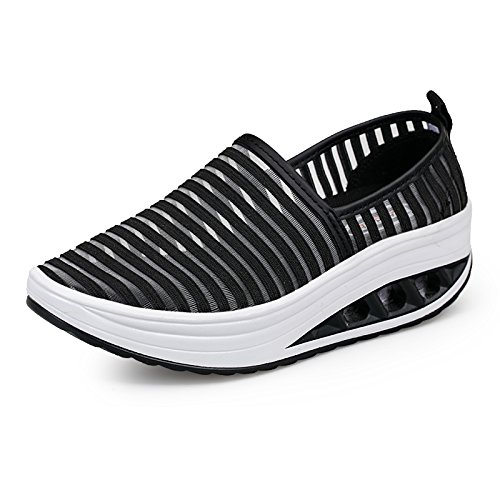 Zicoope Shoe s Women's Walking Sneaker Black On Athletic Slip Toning Casual 6Fxw6fqRZ