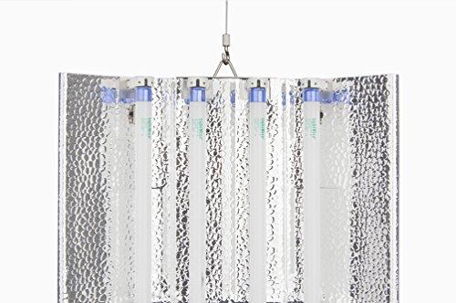 T5 HO Grow Light - 2 FT 4 Lamps - DL824-240 Fluorescent Hydroponic Indoor Fixture Industrial 240V