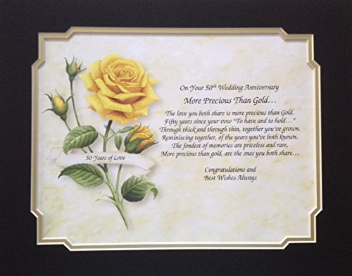 Golden Anniversary 50th (50th Wedding Anniversary Keepsakes)